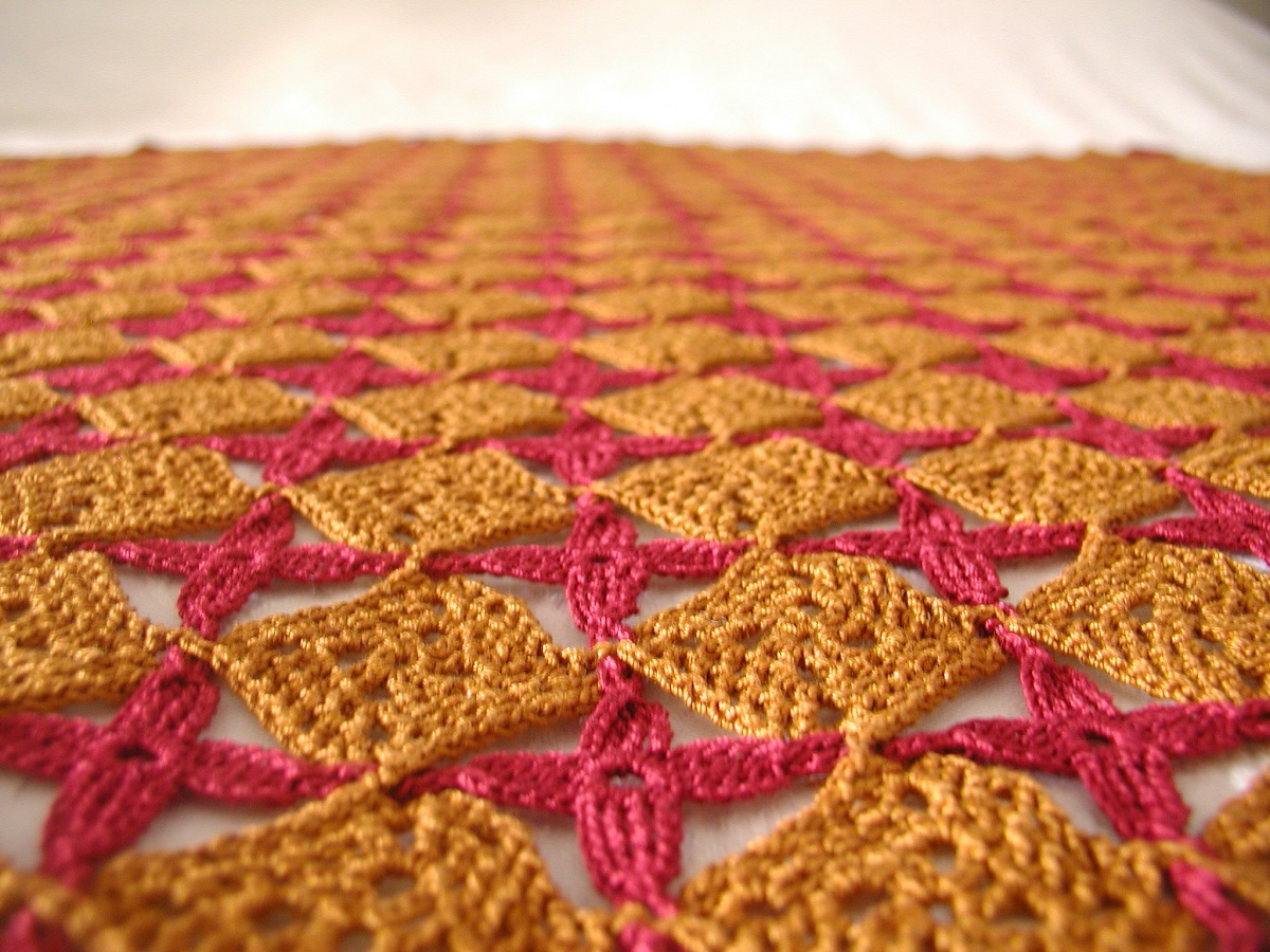 "Medieval Crochet Lace Tablecloth - Copritavola in pizzo crochet ""Medievale"""