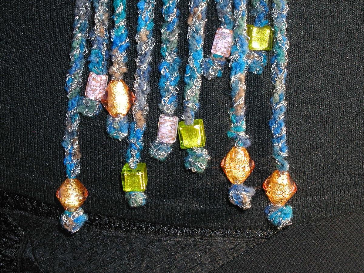 """Tea in the Desert Sash Belt with Murano Glass Beads – Cintura a fascia con perle in vetro di Murano """"Tè nel Deserto"""""""