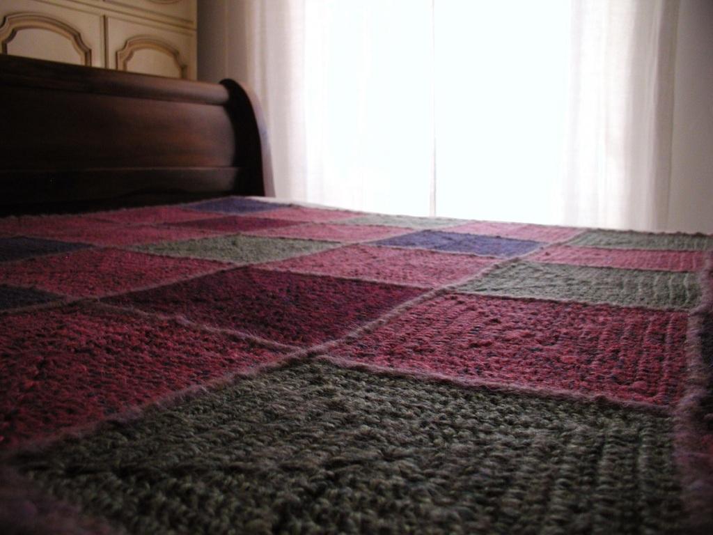 """Lovely Classic Multicolor Afghan Blanket - Coperta arredo multicolor """"Deliziosamente Classica"""""""