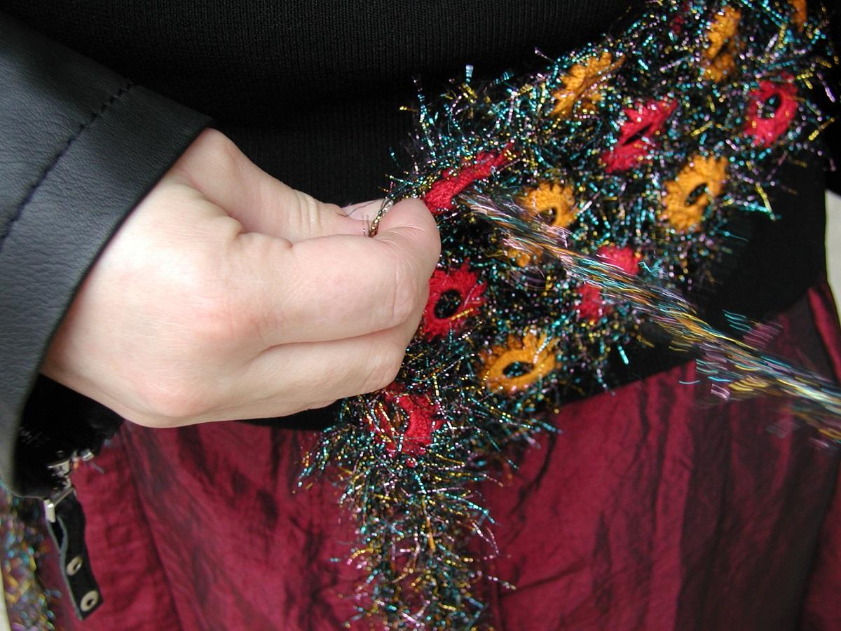 """Discotheque Sparkling Sash Belt with Murano Glass Beads - Cintura a fascia scintillante con perle in vetro di Murano """"Discothèque"""""""
