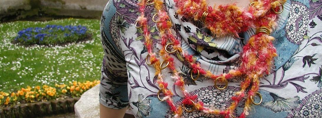 "MusicAlitAnimando Sash Belt and Necklace - Cintura collana ""MusicAlitAnimAndo"""