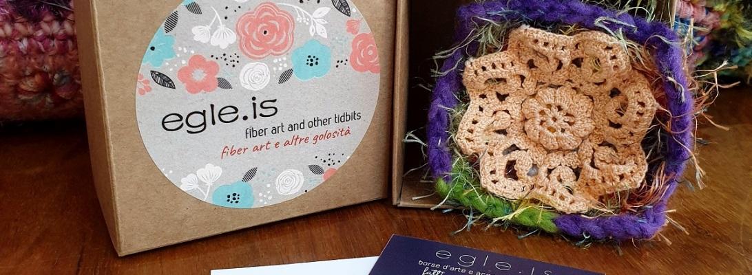 Abstract Flower #8 RRR Fiber Art Brooch - Fiore Astratto #8 spilla fiber art RRR