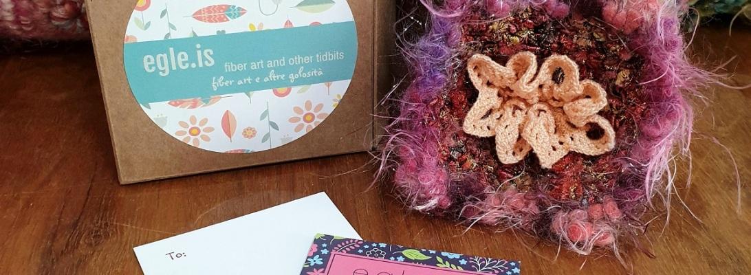 Abstract Flower #29 RRR Fiber Art Brooch - Fiore Astratto #29 spilla fiber art RRR