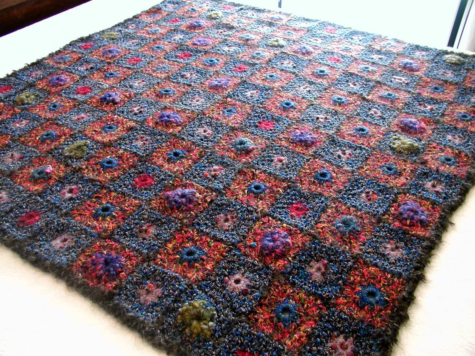 WarmDream Multicolor Afghan - CaldoSogno coperta arredo multicolor