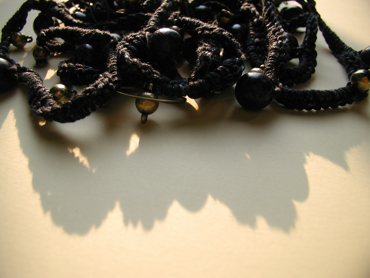 "Gothic Fancy Necklace in black - Collana fantasia in nero ""Gotica"""
