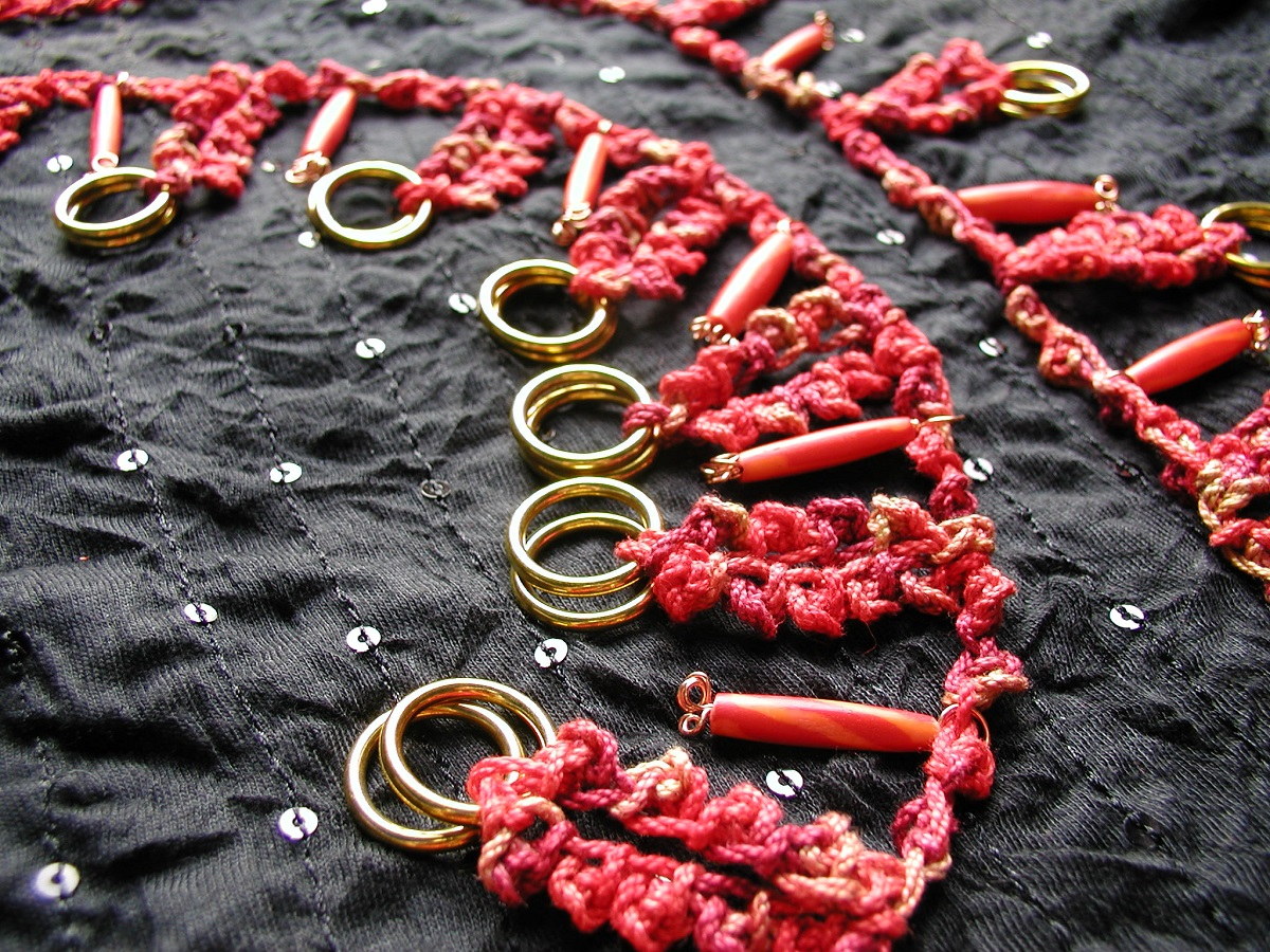 "Red Hot Chili Whimsical Necklace - Collana fantasia ""Red Hot Chili"""