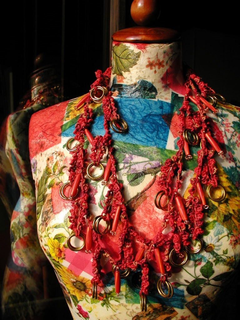 """Red Hot Chili Whimsical Necklace - Collana fantasia """"Red Hot Chili"""""""