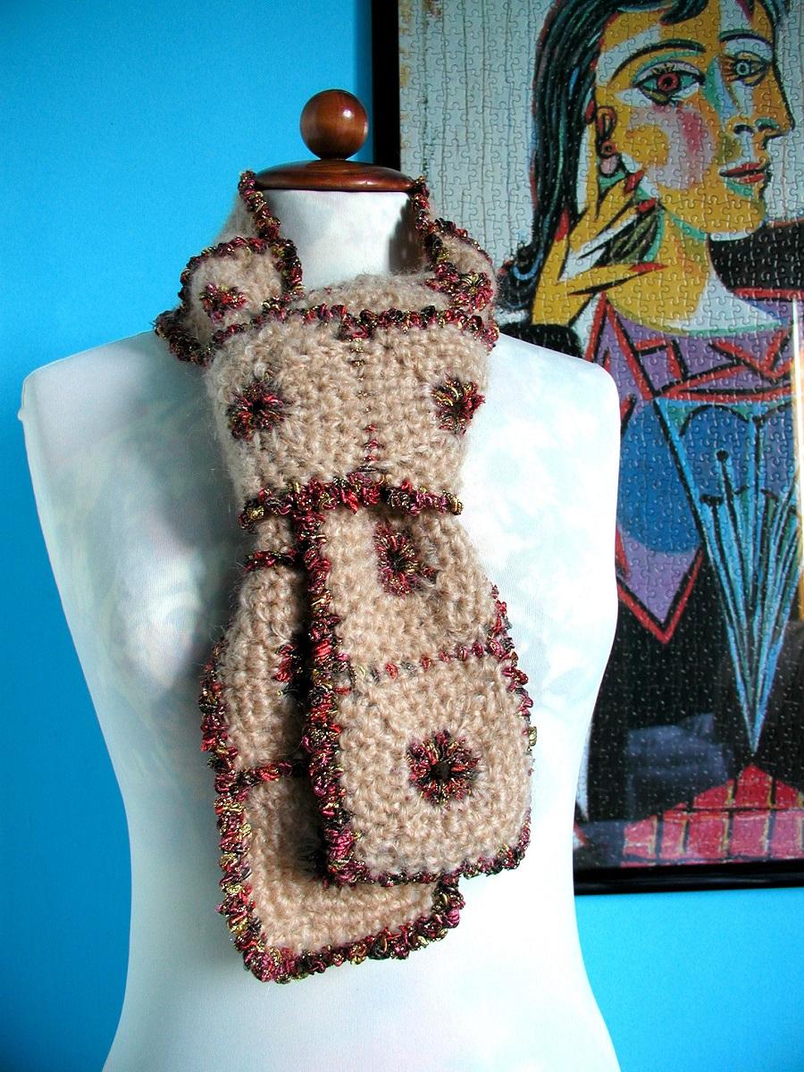 "RedSquared Tie Scarf - Sciarpa cravatta ""Cornici Rosse"""