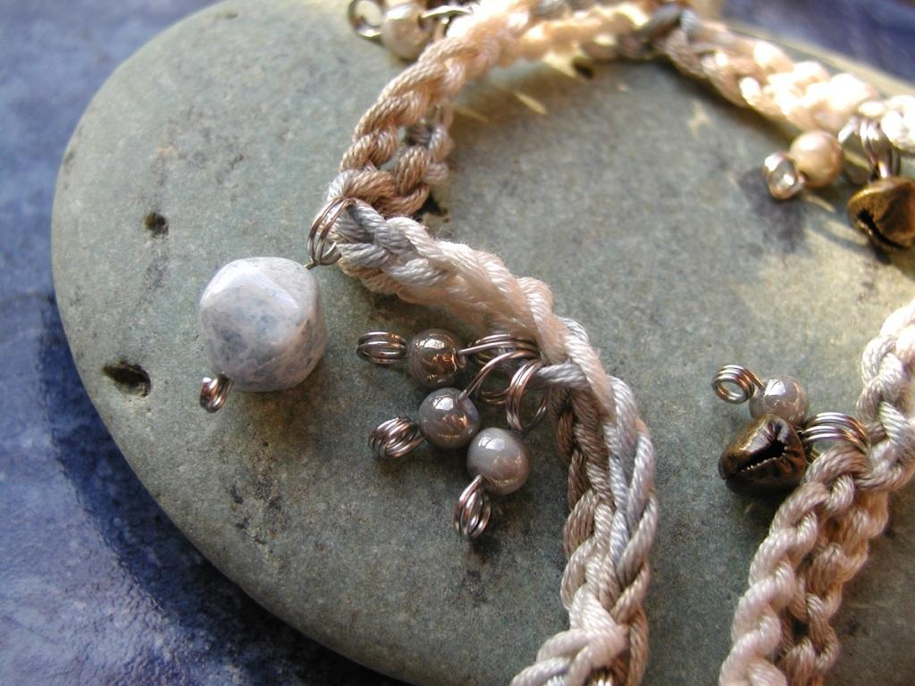 """On the Seaside, in Winter Fancy Necklace - Collana fantasia """"Sulla Spiaggia, in Inverno"""""""