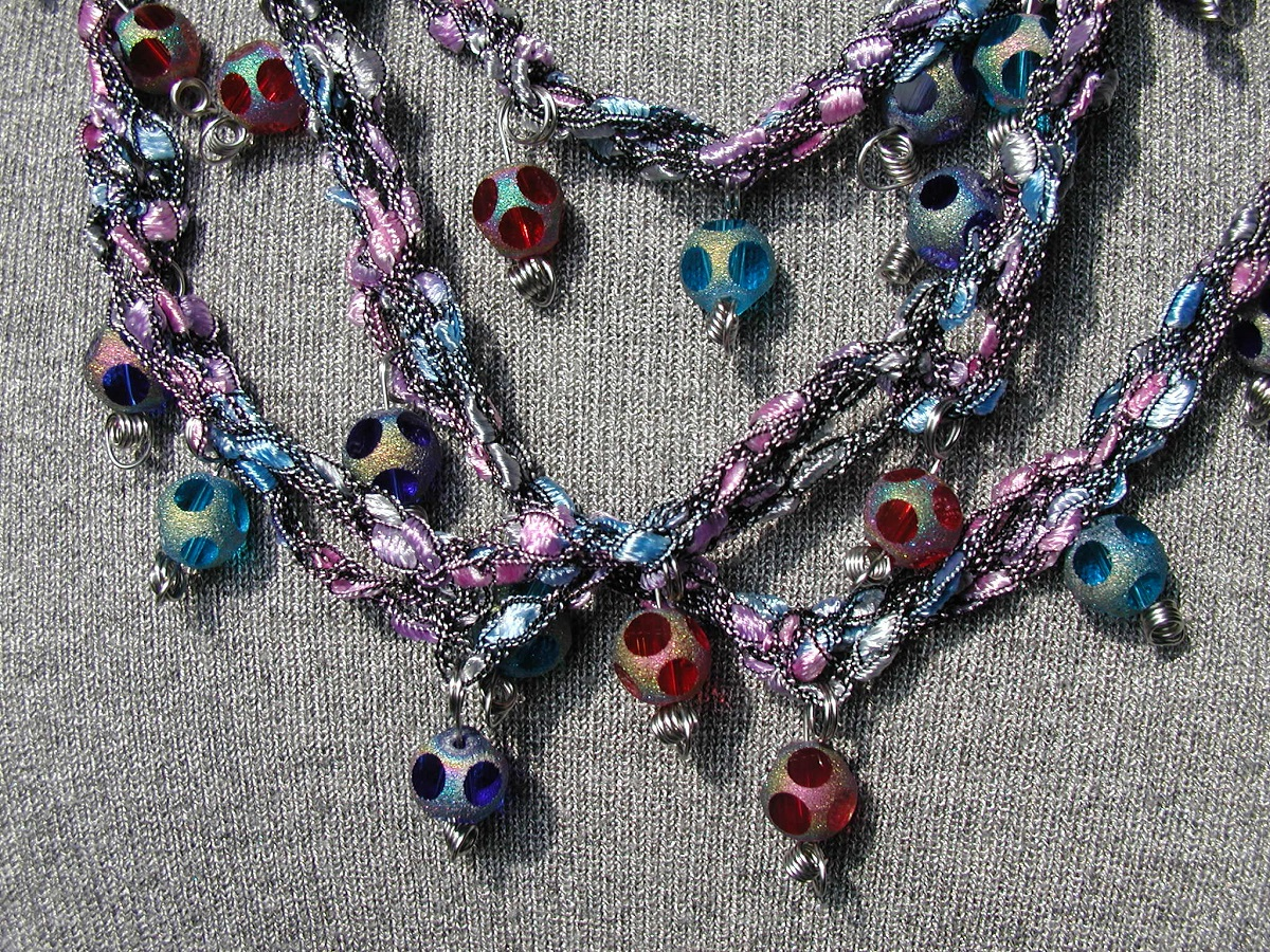 "Rhapsody in Blue Fancy Necklace - Collana fantasia ""Rapsodia in Blu"""