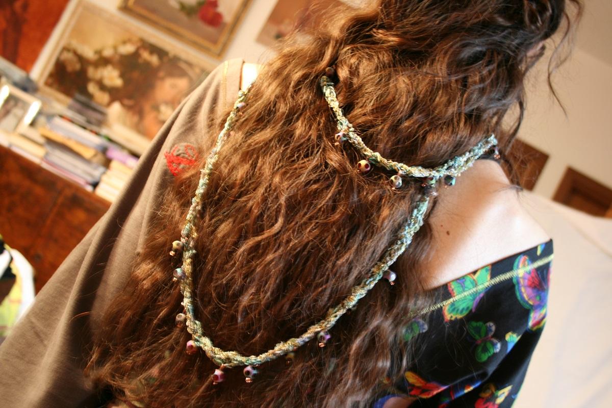 """Rhapsody in Green Fancy Necklace - Collana fantasia """"Rapsodia in Verde"""""""