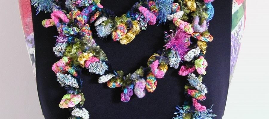 """Manuela Multicolor Lariat Scarf - Sciarpa collana multicolor """"Manuela"""""""