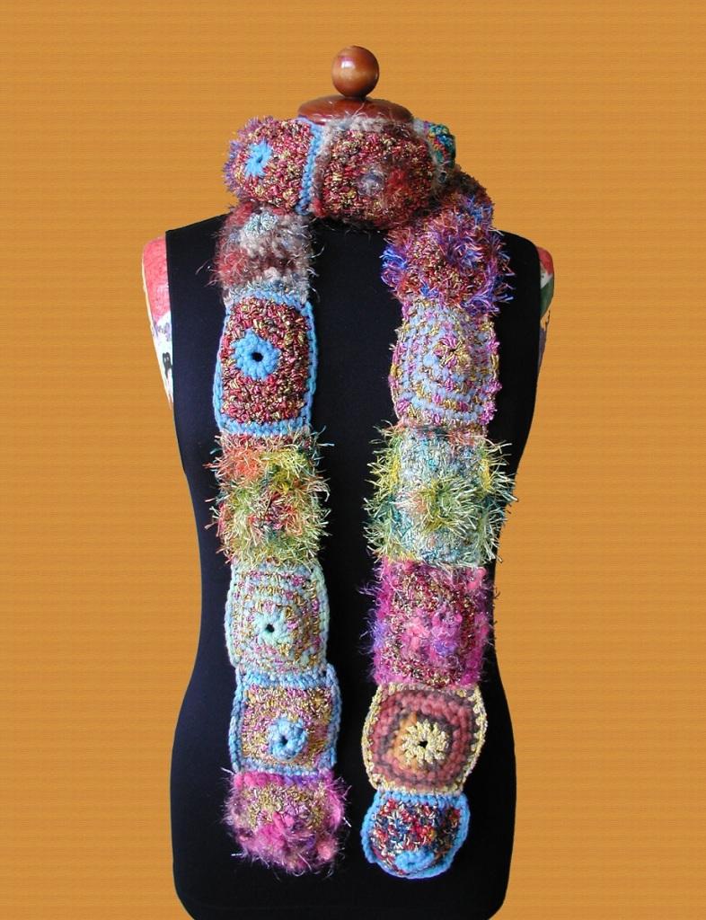 "Four Seasons Tie Scarf - Sciarpa Cravatta ""Quattro Stagioni"""