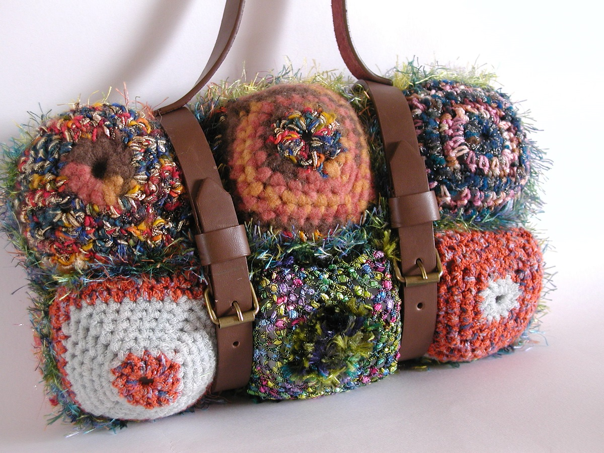 "Georgia Mini Handbag with Leather Handles - Mini borsa con manici in pelle ""Georgia"""