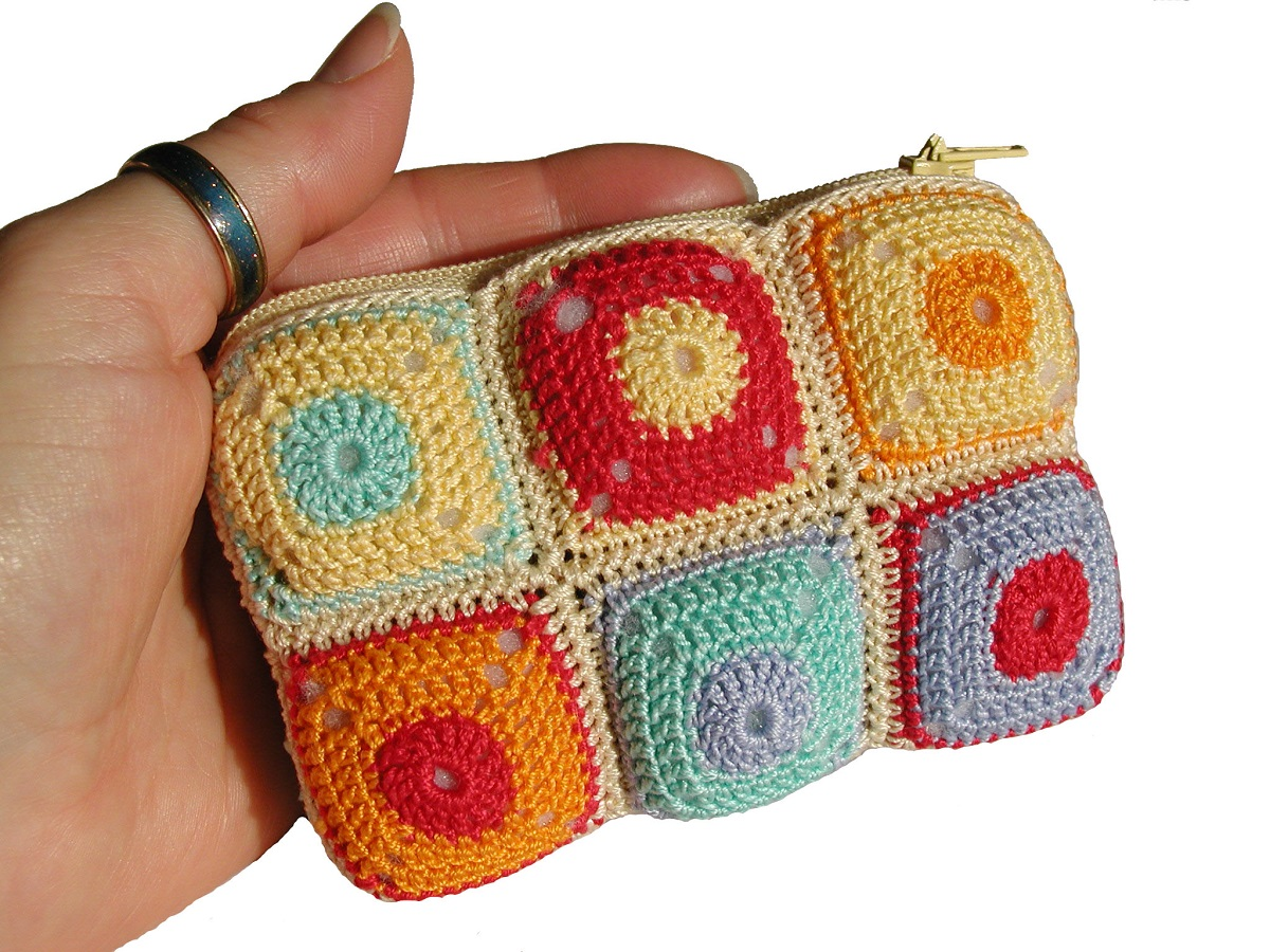 Multicolor Coin Purse - Borsellino multicolor