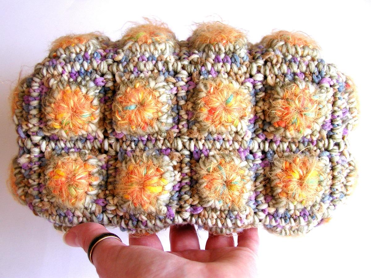 "Blondie Fiber Art Mini Bag in Yellow - Mini borsa fiber art in giallo ""Blondie"""