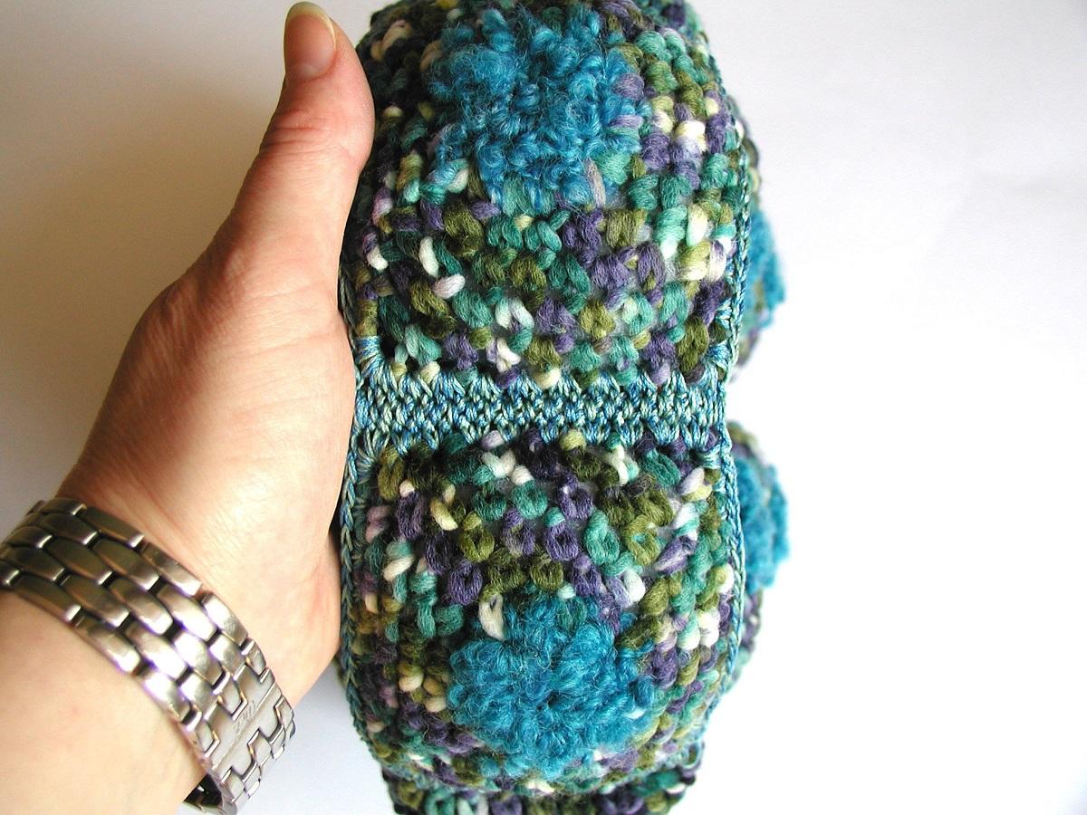 """Egle Mini Bag in Teal and Turquoise - Mini borsa in ottanio e turchese """"Egle"""""""