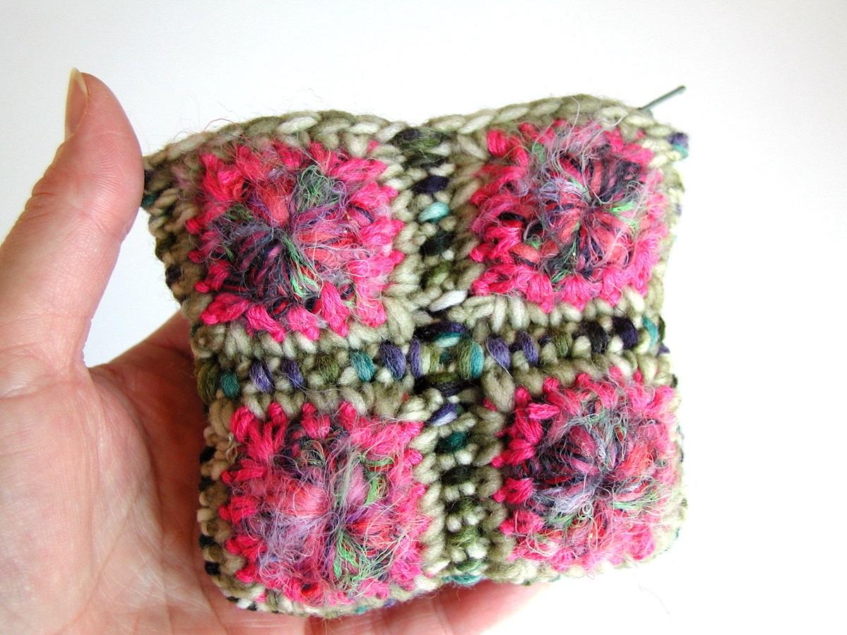 Coin Pouch, Multicolor in Pink - Portamonete multicolor in rosa