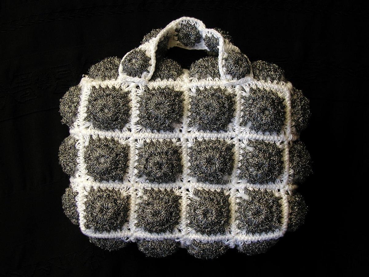 """Dabria Mini Bag in Silver and B/W - Mini borsa argento e B/N """"Dabria"""""""