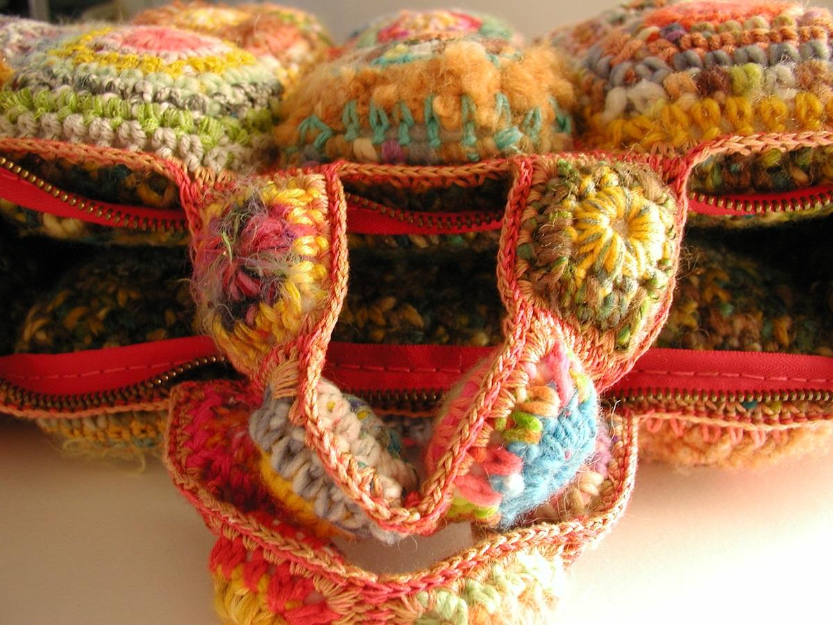 """Judith Soft Briefcase Multicolor in Orange - Borsa cartella morbida """"Judith"""" multicolor in arancione"""