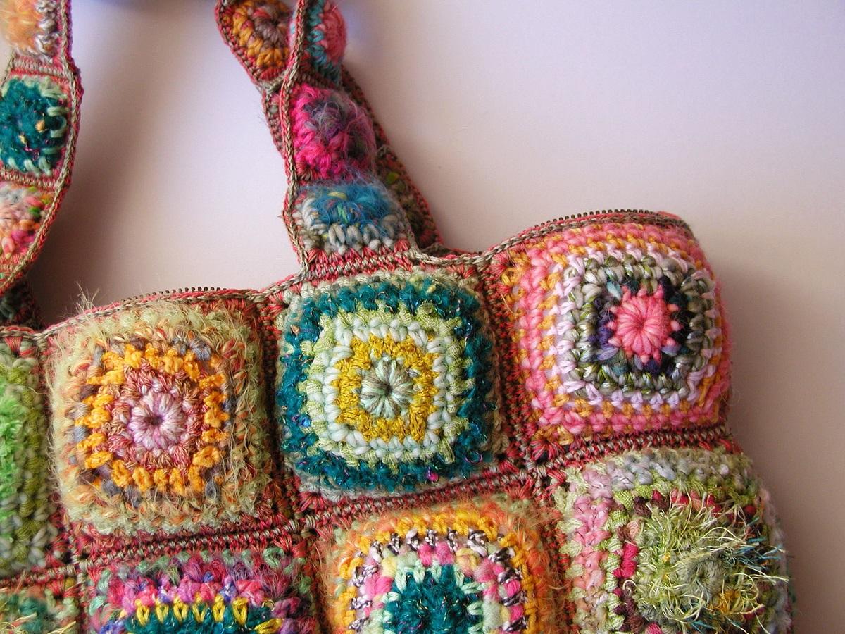 """Annette Tote Bag, Multicolor in Green - Tote bag """"Annette"""" multicolor in verde"""