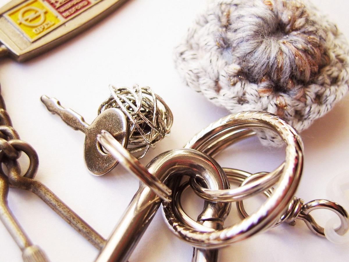 Silver Tangle Fancy Keychain - Groviglio d'Argento portachiavi fantasia