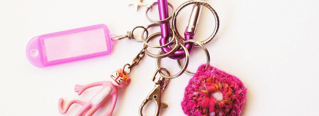Pink Panther Carabiner Keychain - Pantera Rosa portachiavi a moschettone