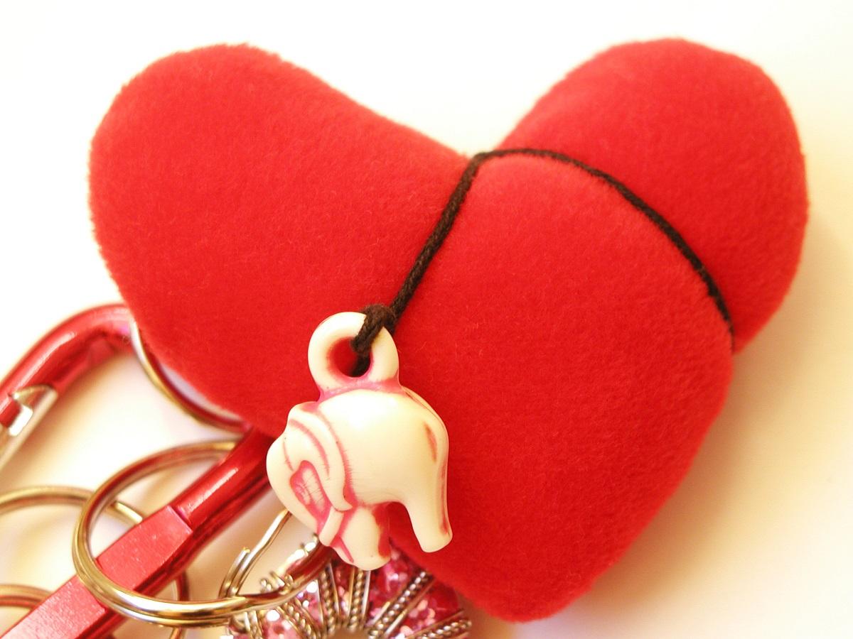 Red Heart Fancy Keychain - Cuore Rosso portachiavi fantasia