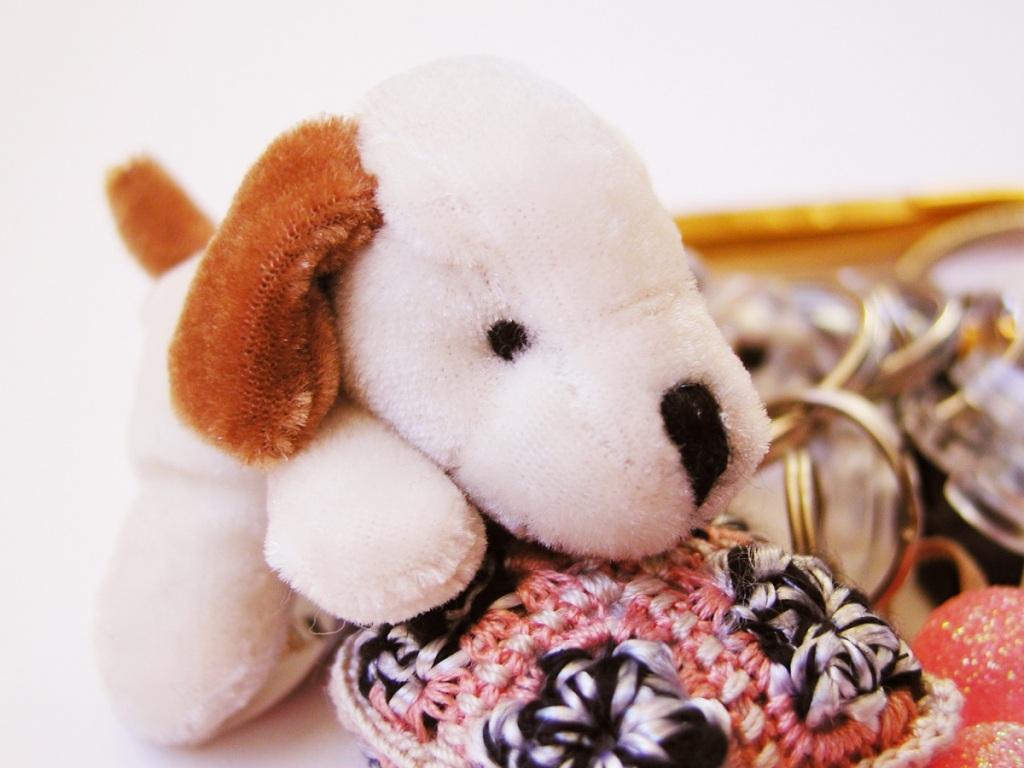 White Doggie RRR Whimsical Keychain - Cagnolino Bianco portachiavi fantasia RRR