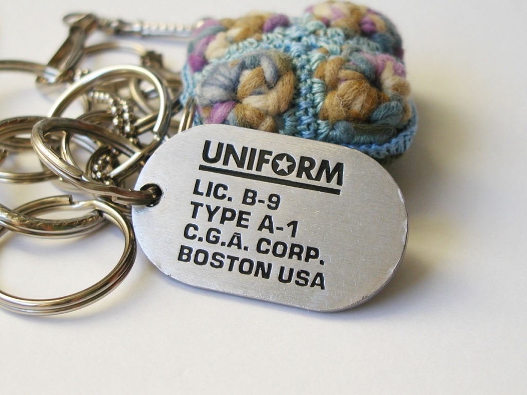 My Uniform Tag RRR Keychain - My Uniform Tag portachiavi RRR