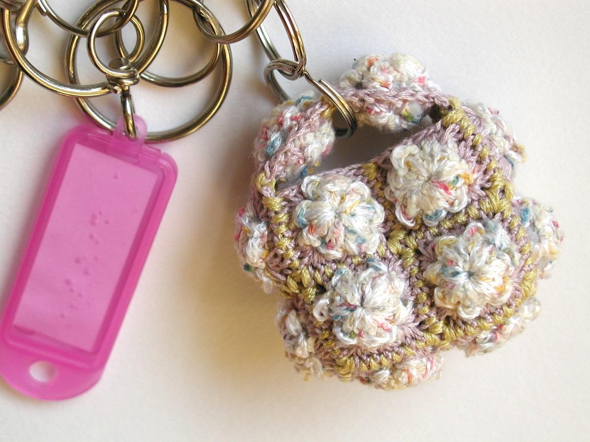 Rose Quartz AtmoSphere Whimsical Keychain - Palla di Quarzo portachiavi fantasia
