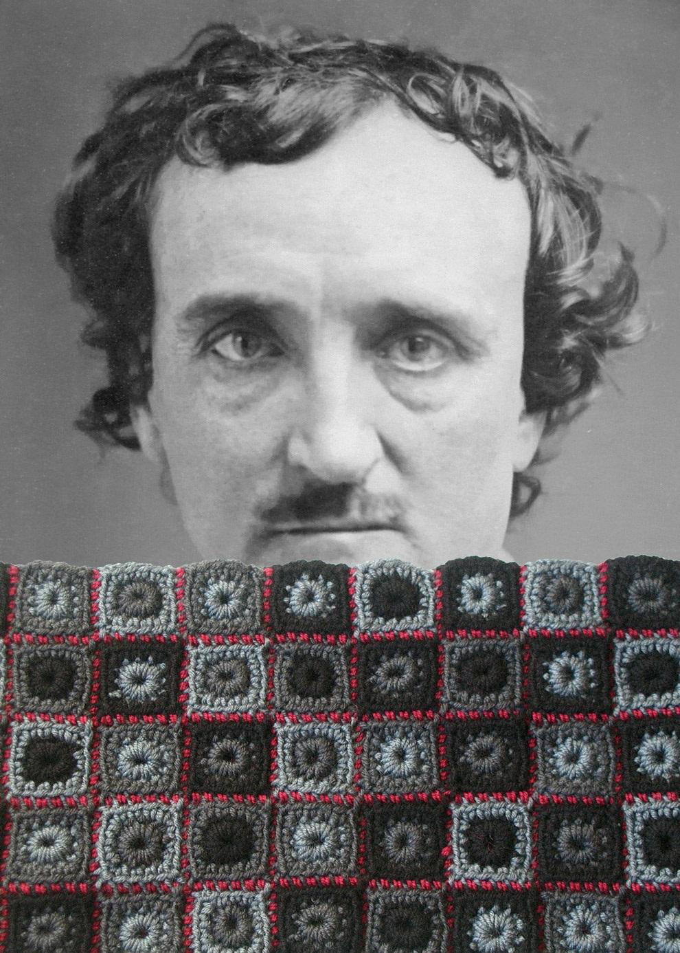 Edgar Allan Poe Unisex Neckwarmer - Edgar Allan Poe scaldacollo unisex