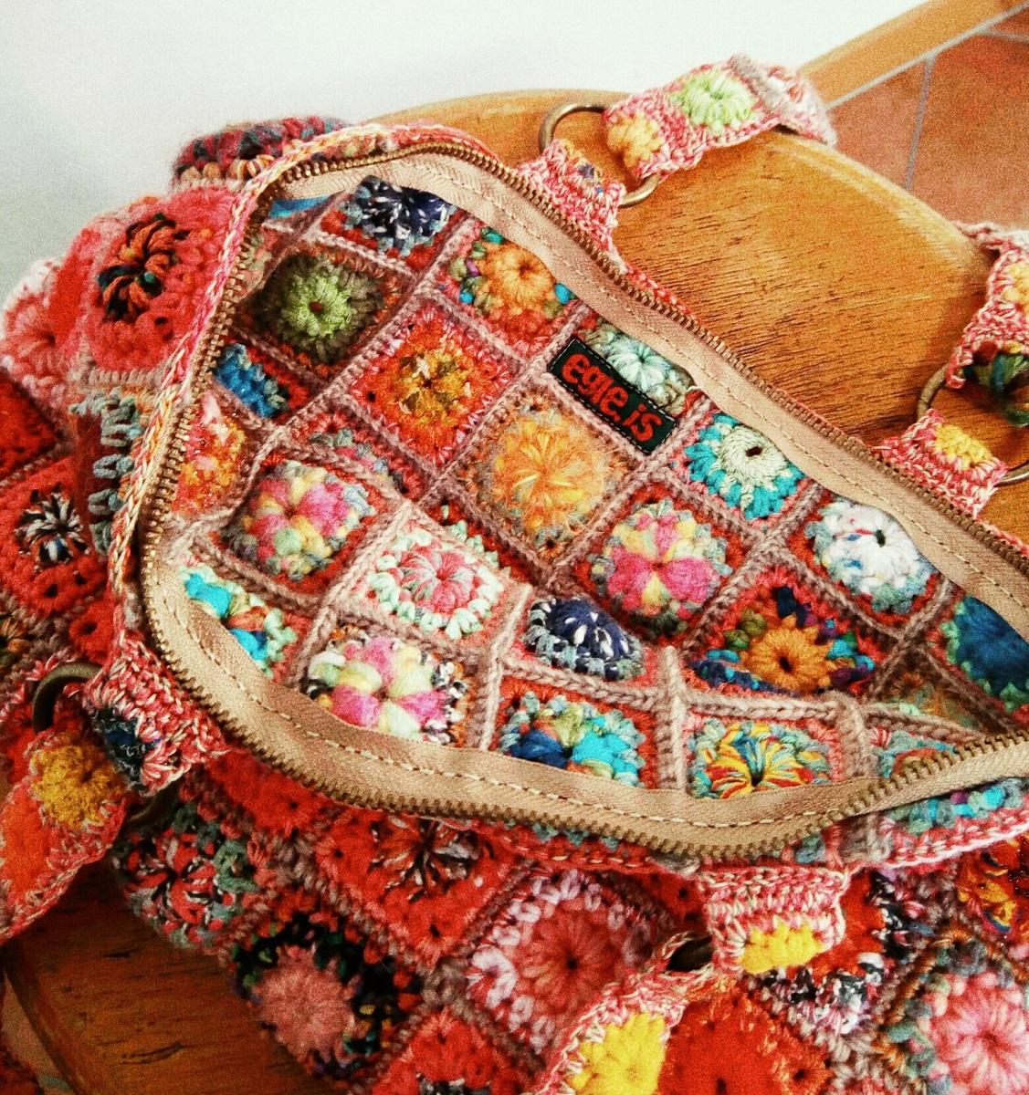 "Hortensia Fiber Art Tote Bag - Borsa tote fiber art ""Ortensia"""