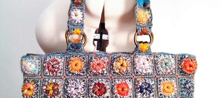 """Orchid Fiber Art Tote Bag - Borsa tote fiber art """"Orchidea"""""""