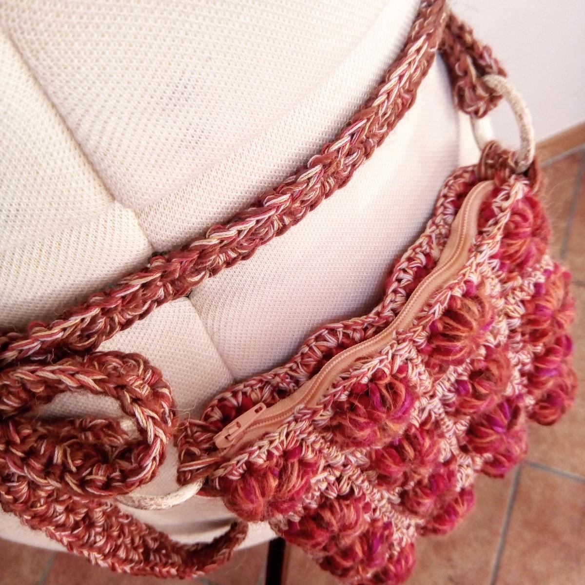 "Autumn Fanny Pack and Crossbody Bag - Marsupio e tracollina ""Autunno"""