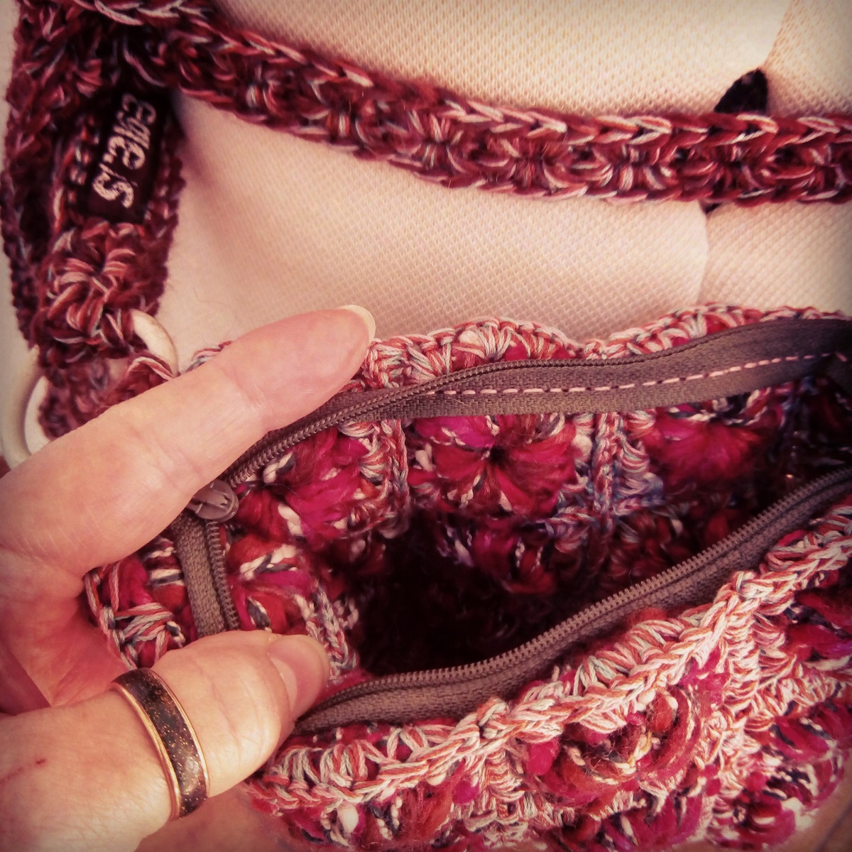 """Winter Fanny Pack and Crossbody Bag - Marsupio e tracollina """"Inverno"""""""