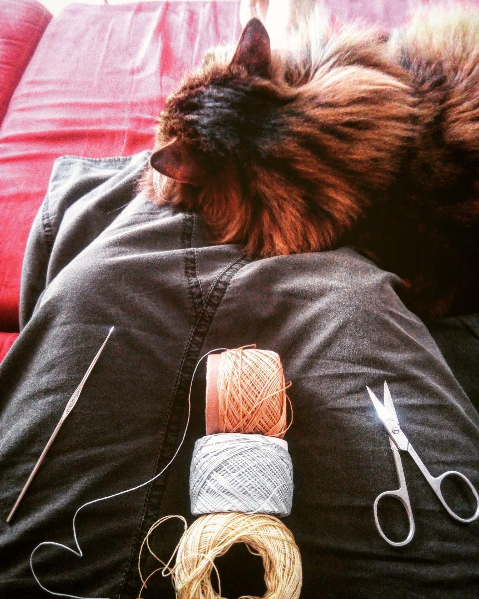 "Penelope Fiber Art Tote Bag - Borsa tote fiber art ""Penelope"""