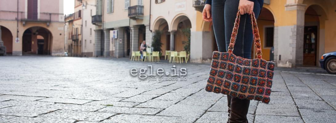 """Clorinda Fiber Art Tote Bag – Borsa tote fiber art """"Clorinda"""""""
