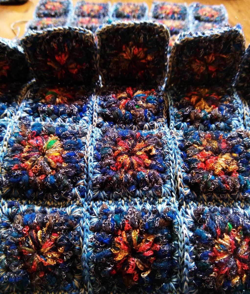 """Clotilda Fiber Art Tote Bag - Borsa tote fiber art """"Clotilde"""""""