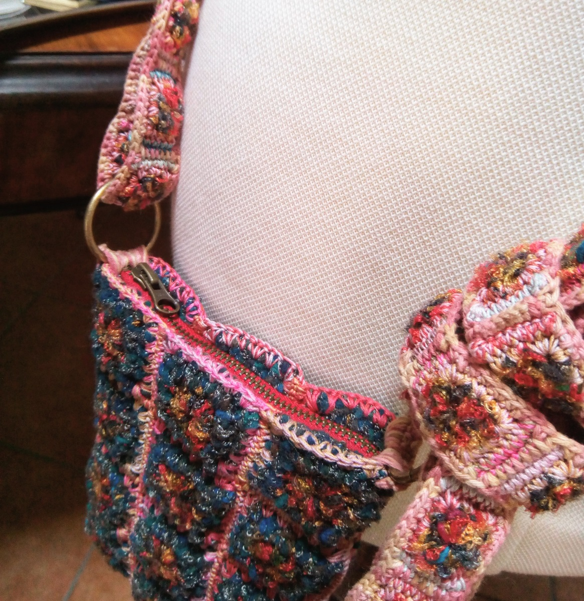 "Claudia Fiber Art Crossbody Bag - Tracollina fiber art ""Claudia"""