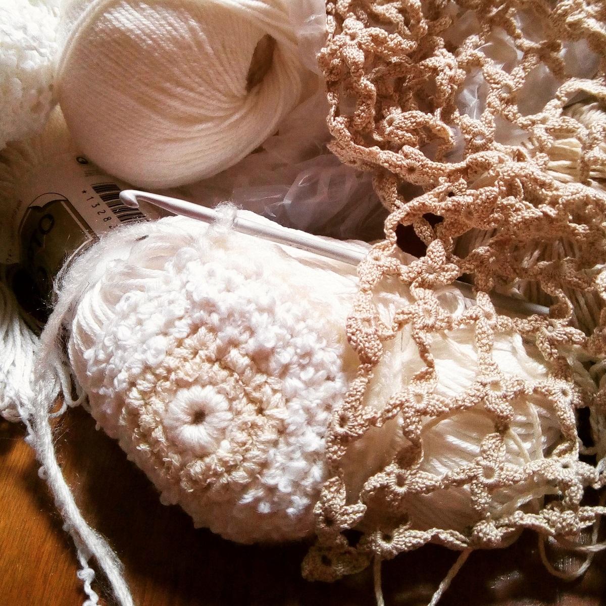"""Candida Fiber Art Tote Bag - Borsa tote fiber art """"Candida"""""""