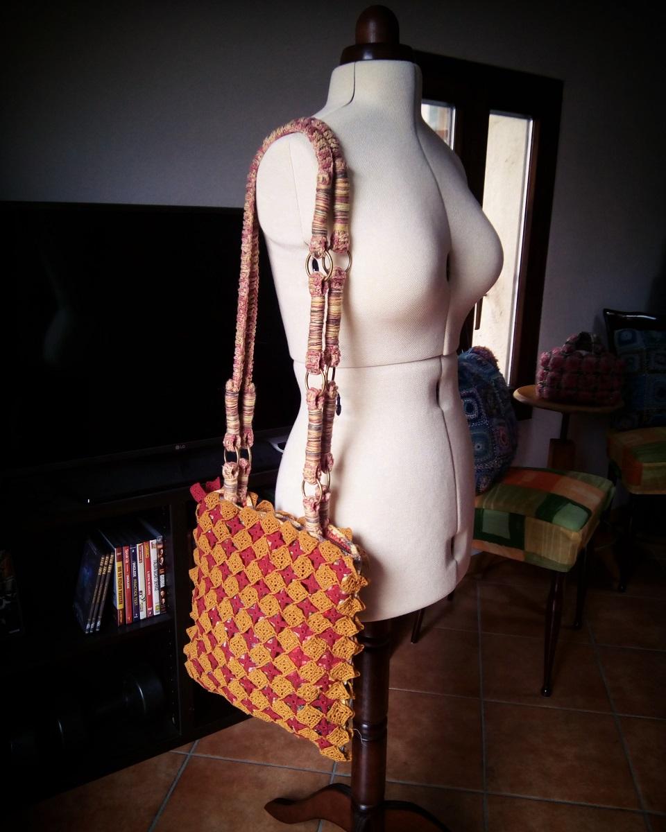 """Pollux Fiber Art Tote Bag – Borsa tote fiber art """"Polluce"""""""
