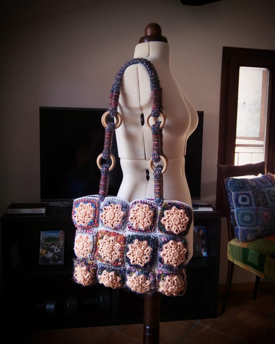 Serket Fiber Art Tote Bag - Selkis borsa tote fiber art